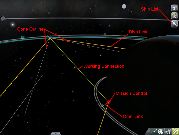 IMAGE: map view, with each type of overlay (active, cones, omni, dish, command center) labeled