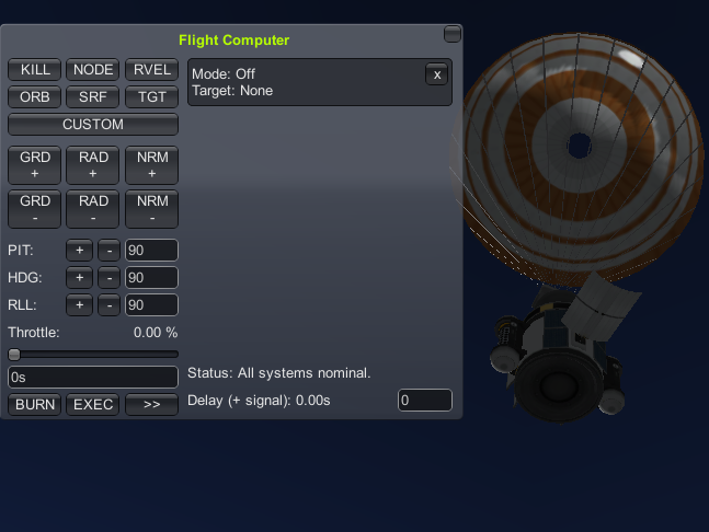 Tutorial - Re-Entry Using the Flight Computer
